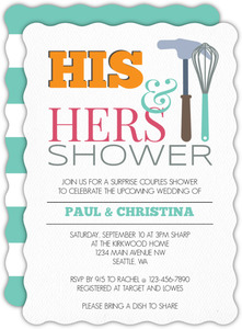 Hammer Whisk Couples Shower Invitation