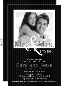 Simple To Be Black And White Couples Shower Invitation