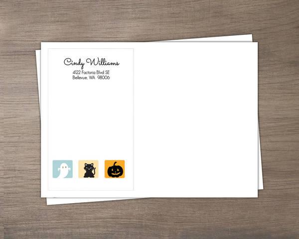 Cute Halloween Animals Birthday Party Invitation Envelope