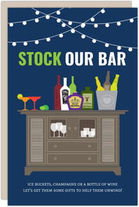 Stock Our Bar Couples Shower Invitation