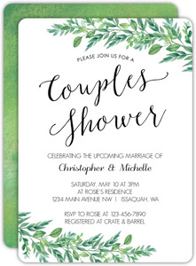 Gorgeous Greenery Couples Shower Invitation