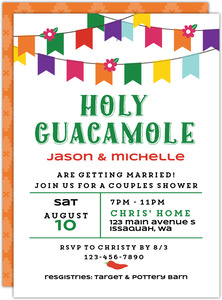 Holy Guacamole Couples Shower Invitation