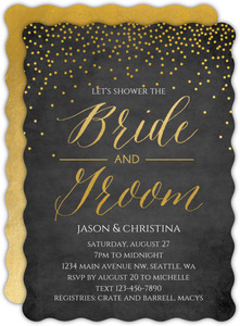 Confetti Bride & Groom Couples Shower Invitation