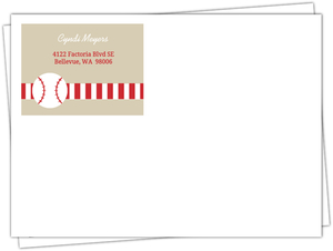 Taupe And Red  Baseball Full Envelope
