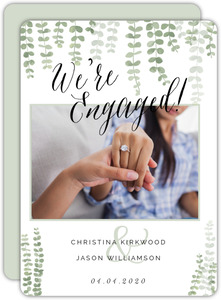 Eucalyptus Branches Engagement Announcement