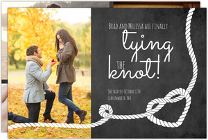Heart Knot Photo Collage Engagement Announcement