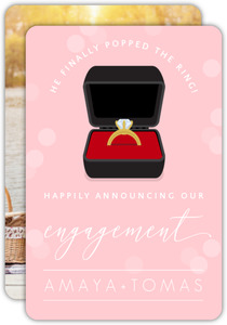 Ring Box Photo Engagement Announcement