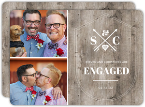 Rustic Crossed Arrows Engagement Announcement