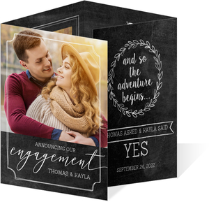 Chalkboard Frames Engagement Announcement