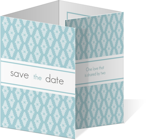 Modern Blue Circle  Save the Date