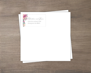 Blush Pink Anemones Wedding Custom Envelope