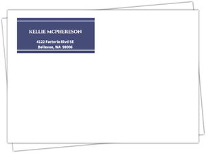 Now And Then Photo Anniversary Party Invitation Envelope
