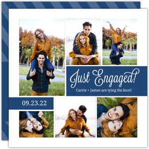 Photo Collage Engagement Party Invitation