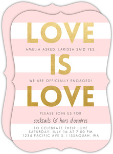Love is Love Engagement Party Invitation