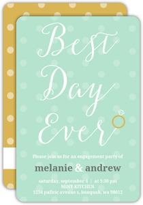 Best Day Ever Engagement Party Invitation