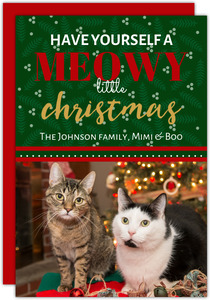 Meowy Little Christmas Card