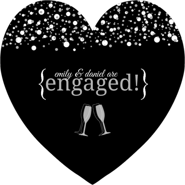 Champagne Toast Engagement Party Invitation