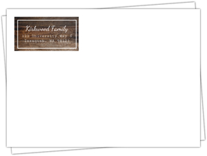 Woodgrain Triple Graduation Invitation Envelope