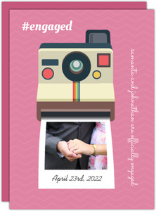 Vintage Camera Engagement Photo Party Invitation