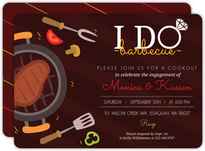 Fun I Do BBQ Engagement Party Invitation