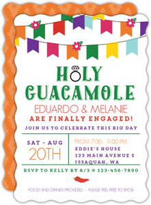 Holy Guacamole Engagement Party Invitation