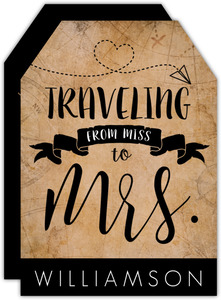 Traveling to Mrs Engagement Party Invitation