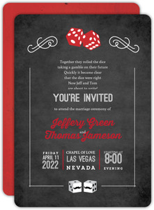 Rustic Las Vegas Chalkboard Gay Wedding Invitation