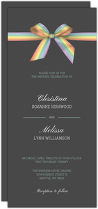 Rainbow Ribbon LGBT Wedding Invitation