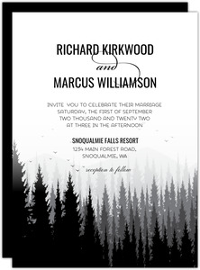 Outdoor Forest Gay Wedding Invitation