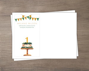 Colorful Flowers 1St Birthday Invitation