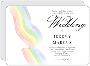 Elegant Rainbow Gay Wedding Invitation