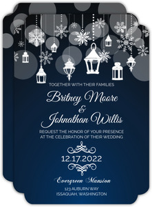 Snowflake Lantern Wedding Invitation