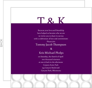 Connected Purple Wedding Invite