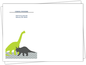 Navy And Gray Dinosaur 1St Birthday Envelope
