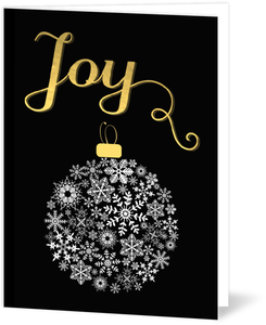White Snowflake Ornament Holiday Card