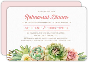 Whimsical Succulents Rehearsal Dinner