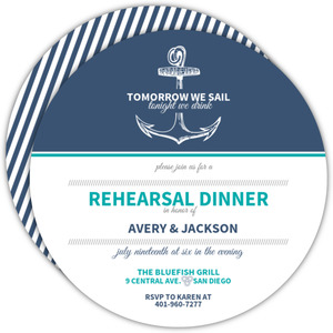 Anchor Navy And Teal Rehearsal Dinner