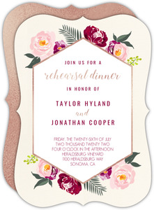 Boho Floral Rehearsal Dinner Invitation