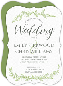 Green Spring Pattern Wedding Invitation