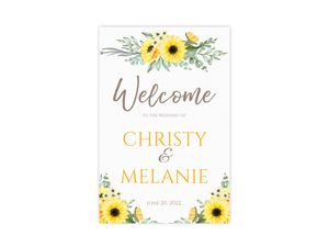 Sunflower Wedding Welcome Poster