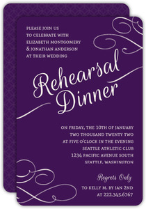 Royal Flourish Rehearsal Dinner Invitation