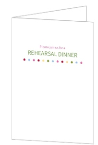 Simple Polka Dot Rehearsal Dinner Invititation