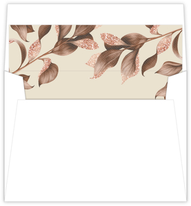 Faux Glitter Autumn Leaves Envelope Liner