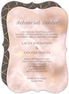 Elegant Blush and Gold Marble Rehearsal Dinner