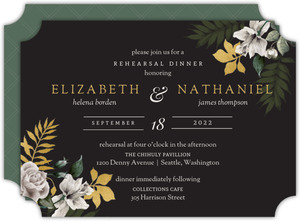 Romantic Floral Rehearsal Dinner Invitation