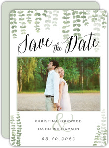 Eucalyptus Branches Save The Date