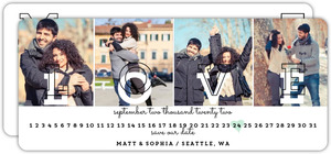 Multi Photo Love Postcard Save The Date Announcement