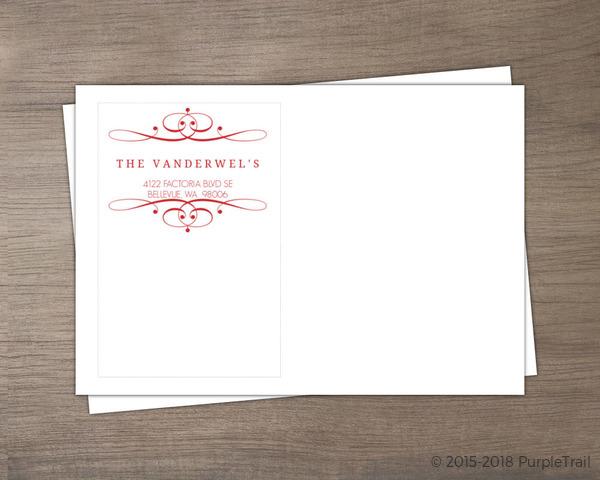 red elegant swirl invitation envelope custom envelopes