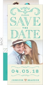 Summer Beach Turquoise Save The Date Card