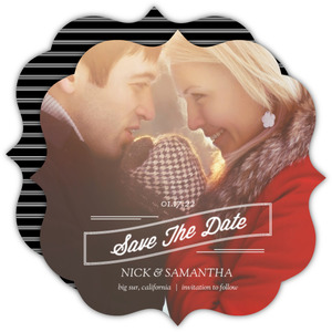 Vintage Holiday Save The Date Announcement